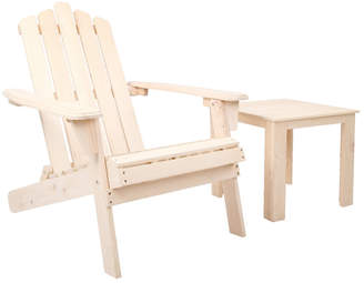 Adirondack Dwell Outdoor Natural Valencia Outdoor Chair & Table Set
