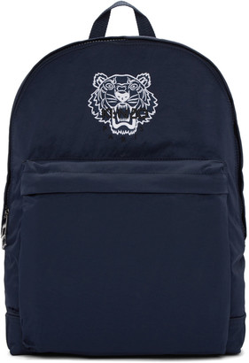 Kenzo Blue Nylon Tiger Backpack $240 thestylecure.com
