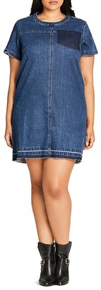 City Chic Denim Darling Dress $89 thestylecure.com