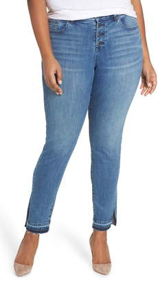 Vince Camuto Button Fly High Waist Jeans