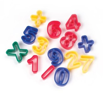 Pacon Numbers & Math Symbols Dough Cutters - 14 pieces per pack, 6 packs