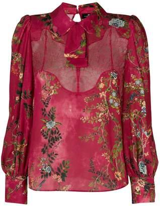 Elisabetta Franchi lace insert floral blouse