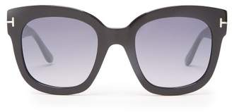 Tom Ford Oversized Cat Eye Acetate Sunglasses - Womens - Black
