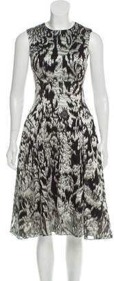 Lela Rose Metallic Midi Dress