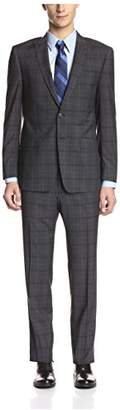 Franklin Tailored Men's Windowpane Peak Lapel Suit