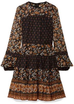 MICHAEL Michael Kors Metallic Floral-print Georgette Mini Dress