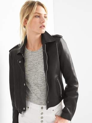 Gap Cropped Leather Jacket