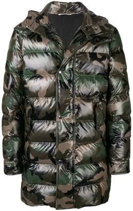 Valentino military printed padded jacket