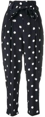 Zimmermann tie waist polka dot trousers