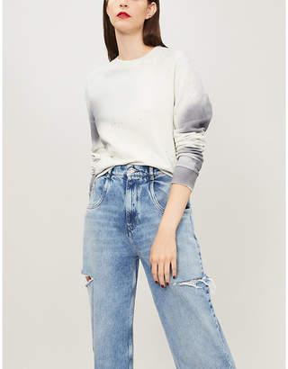 Off-White Spray Arrow cotton-jersey sweatshirt