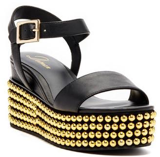 Delman Angie Studded Platform Sandal $278 thestylecure.com