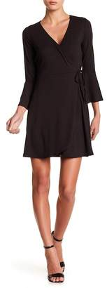 Abound Flounce Sleeve Wrap Dress