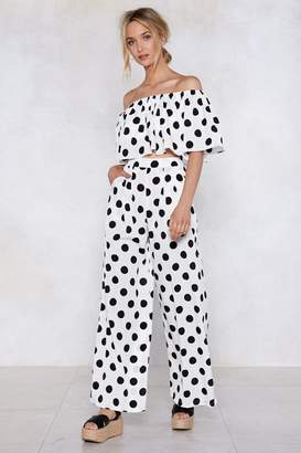 Nasty Gal Spot Right There Wide-Leg Pants