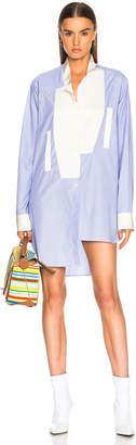 Loewe Asymmetric Oversized Stripe Shirt