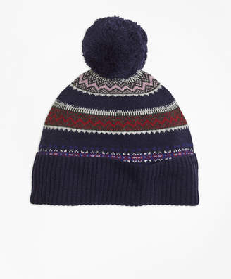 Brooks Brothers Fair Isle Lambswool Beanie