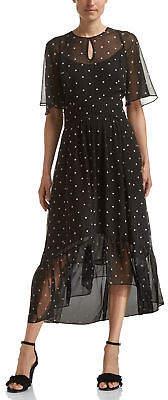 SABA NEW WOMENS Paris Polka Midi Dress Dresses