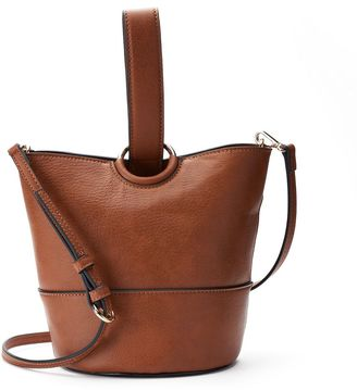 LC Lauren Conrad Lili Loop Crossbody Bucket Bag $59 thestylecure.com
