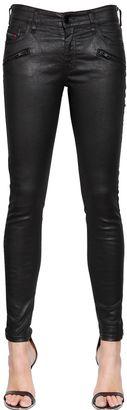 Slandy Coated Stretch Denim Jeans $289 thestylecure.com