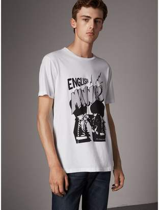 Burberry Icons Print Cotton T-shirt