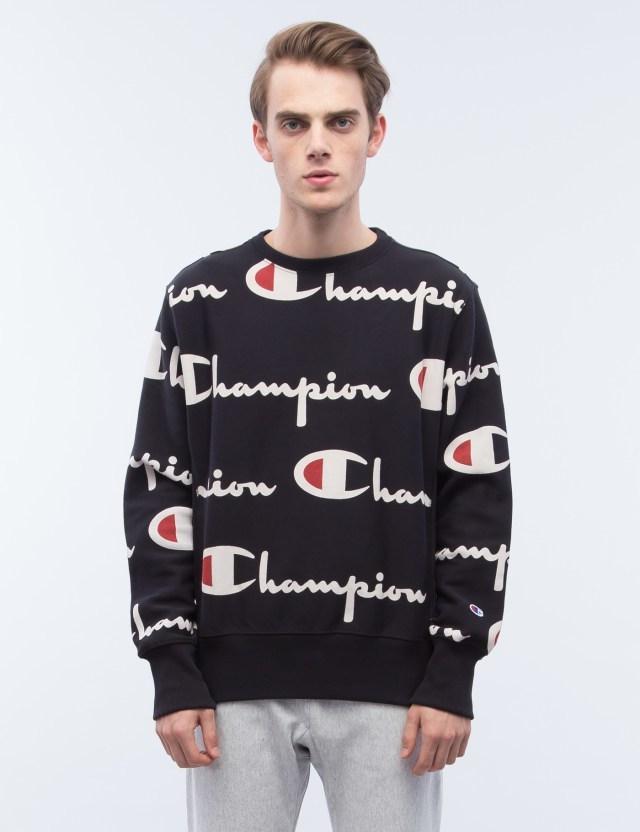 Champion Reverse Weave Overall Script Logo Sweatshirt