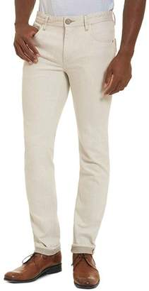 Robert Graham Gonzales Straight Fit Jeans in Off-White