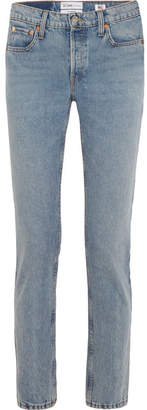 RE/DONE Cindy Crawford The Crawford High-rise Straight-leg Jeans - Light denim