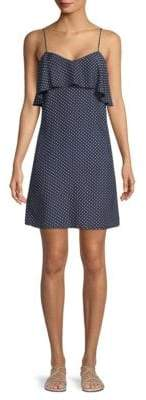 ATM Anthony Thomas Melillo Silk Polka Dot Flounce Dress