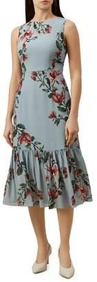 Hobbs London Hallie Flounced Floral Midi Dress