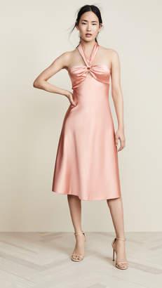 Jonathan Simkhai Structured Sateen Halter Slip Dress