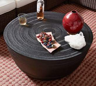 Pottery Barn Frog Drum Coffee Table