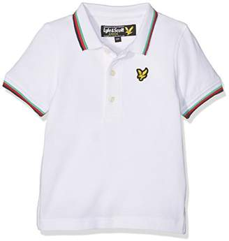 Lyle & Scott Boy's Plain Tipped Polo Bright White 2-3Y Shirt, 2-3 Years