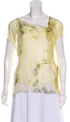 da2afda664782 Marni Silk Printed Blouse w  Tags