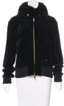Sonia Rykiel Fur-Trimmed Velvet Jacket
