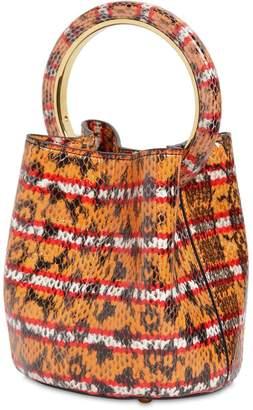 Marni Pannier Snake Print Leather Shoulder Bag