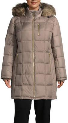 Liz Claiborne Water Resistant Heavyweight Puffer Jacket-Plus