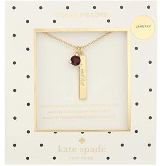 Kate Spade January Pendant Necklace