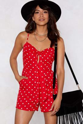 Nasty Gal Connect the Dots Romper