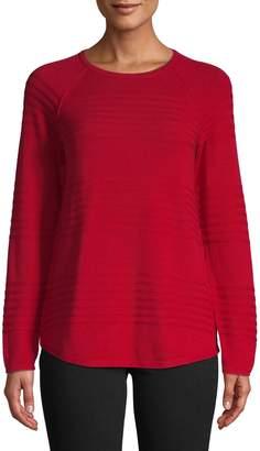 Karen Scott Petite Raglan-Sleeve Cotton Top