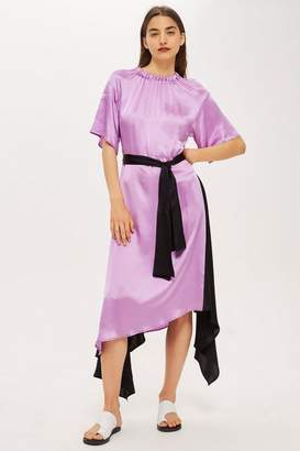 Topshop Elastic Neck Satin Maxi Dress by Boutique