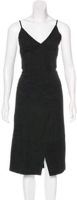 Maiyet Suede Sleeveless Dress Black Suede Sleeveless Dress