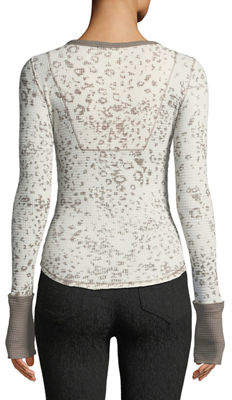 Free People Davis Speckled Thermal Tee