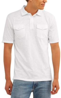 Cherokee Big Men's Short Sleeve Double Pocket Polo