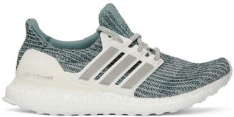 adidas Green and White Parley Ultraboost Sneakers