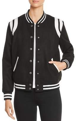 Velvet Heart Eve Collegiate Bomber Jacket