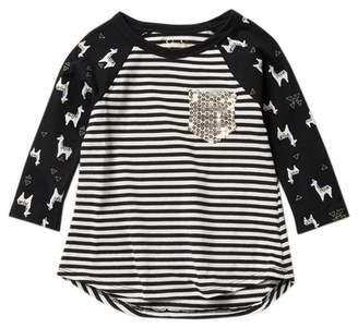 Jessica Simpson 3\u002F4 Sleeve Pocket Tee (Little Girls)