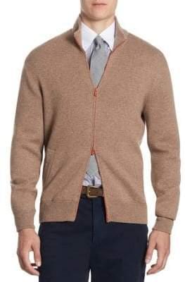 Brunello Cucinelli Double Zip-Front Cashmere Cardigan