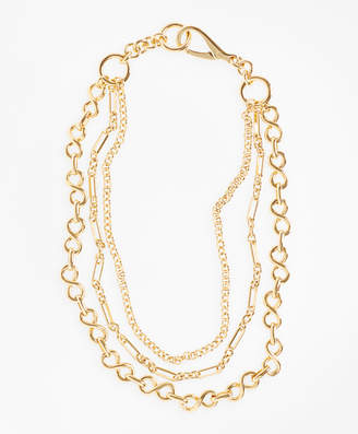 Brooks Brothers Gold-Plated Three-Layer Chain Necklace