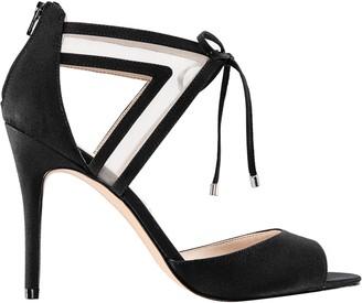 Nina Footwear Open-Toe Mesh Ankle Strap Pumps -Caleya