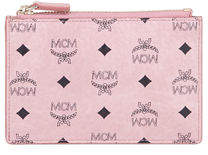 MCM Canvas Logo Mini Key Pouch Bag