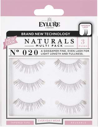 Eylure Naturalites False Lashes Multipack - 020 Natural Volume (Adhesive Included)